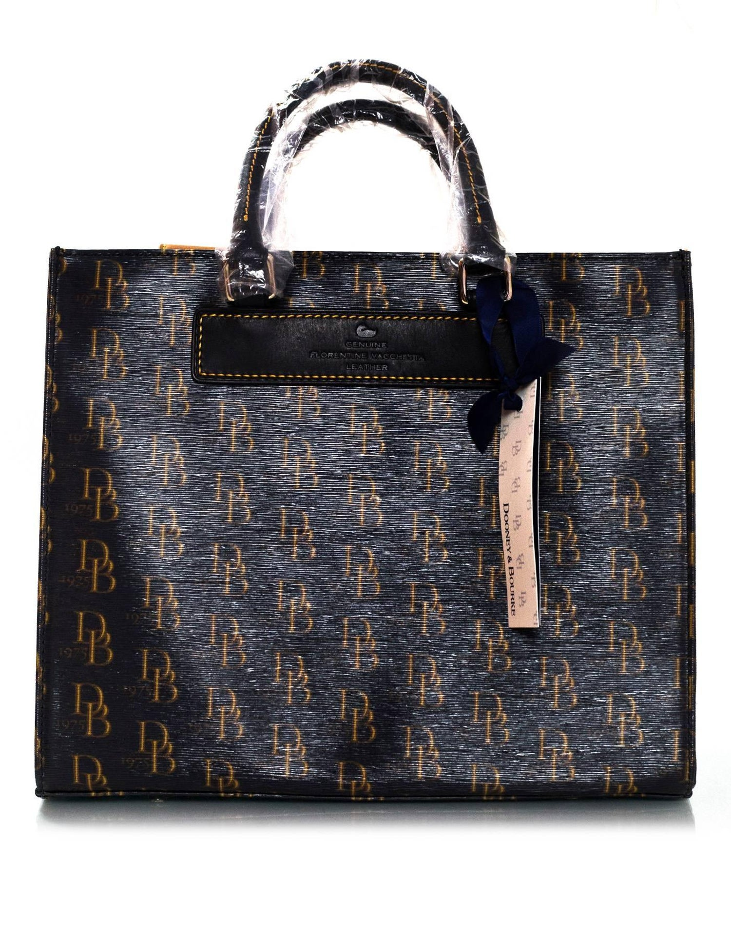 e56cb7c90a82 Dooney and Bourke Black Monogram Medium Janine Satchel NWT For Sale at  1stdibs