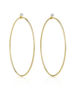 Tiffany & Co. Elsa Peretti 18k Yellow Gold & Diamond Medium Hoop Earrings