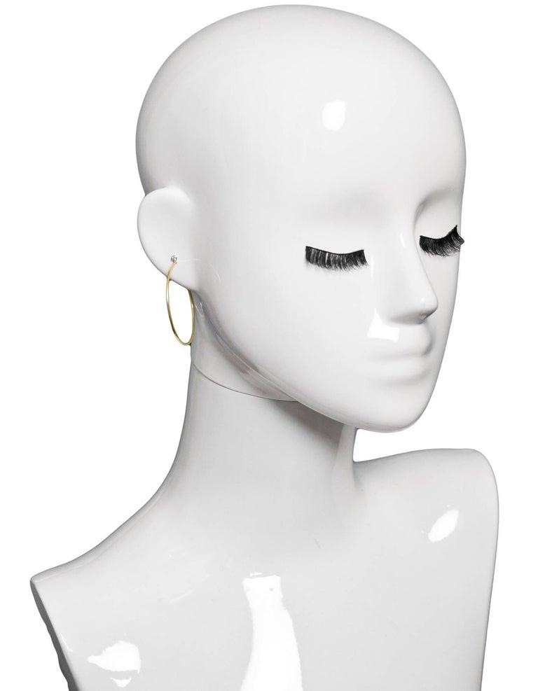 013a100cc Tiffany & Co. Elsa Peretti 18k Yellow Gold & Diamond Medium Hoop Earrings In  Excellent