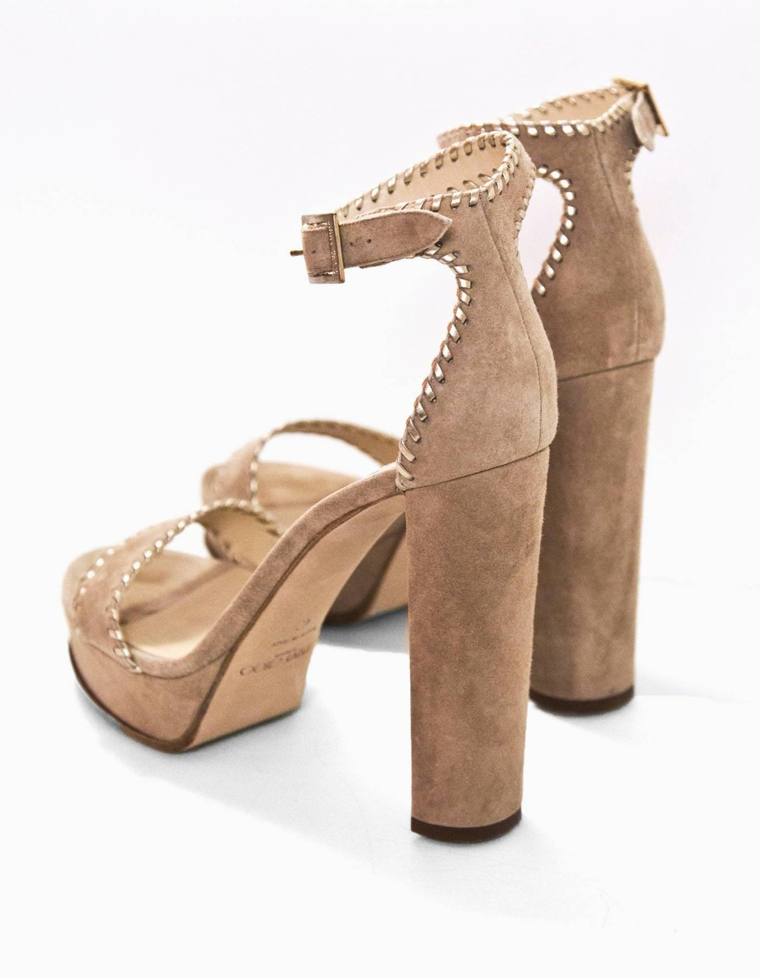 61d71921557 Jimmy Choo Nude Suede Holly Sandals Sz 40 For Sale at 1stdibs