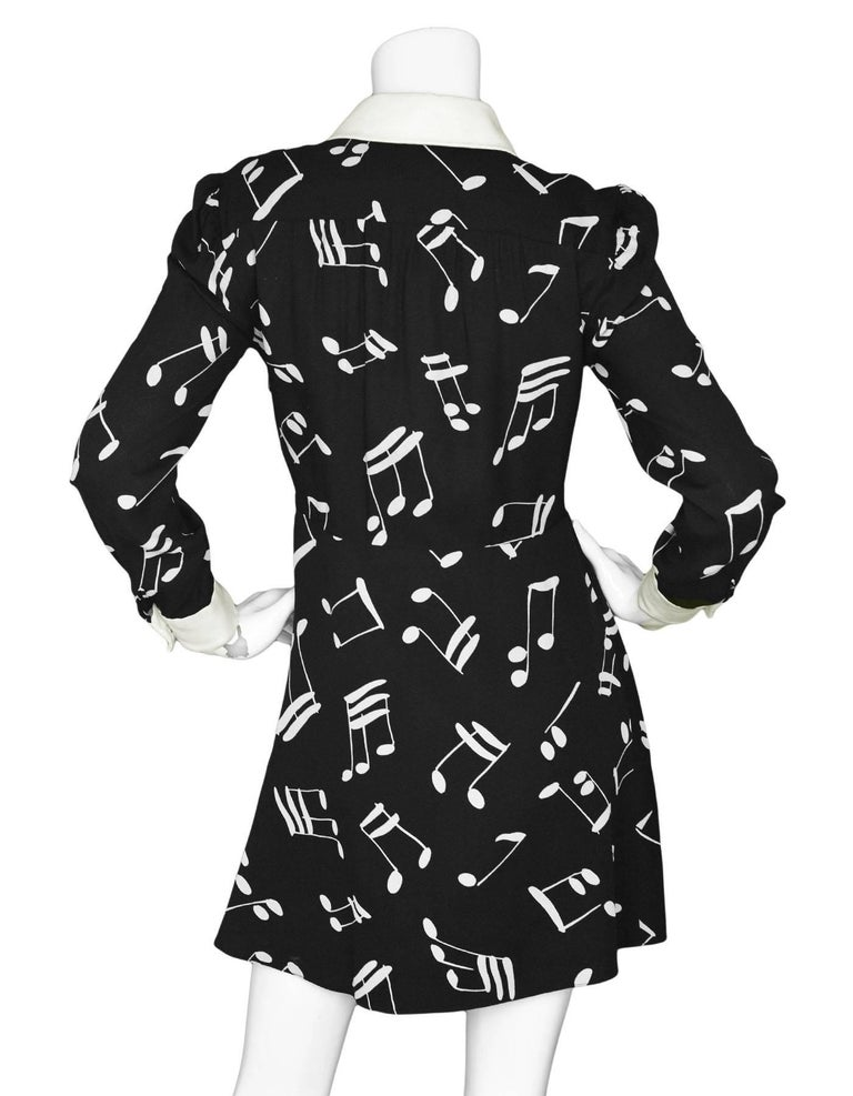 23830f7f083 Saint Laurent Black Music Note Print Dress For Sale at 1stdibs