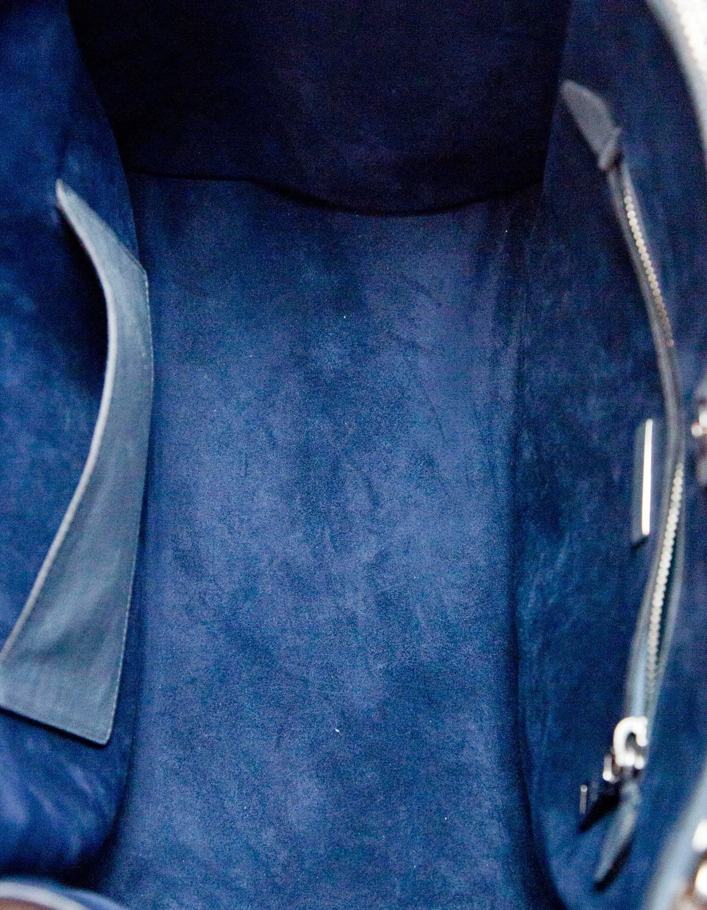 152b02b2b5af ... denmark prada marine blue glace calf leather twin pocket tote with box  dust bag for sale