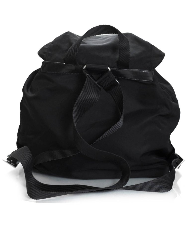 ebe1c98e9412f5 Prada Black Tessuto Nylon Backpack Bag In Excellent Condition For Sale In  New York, NY