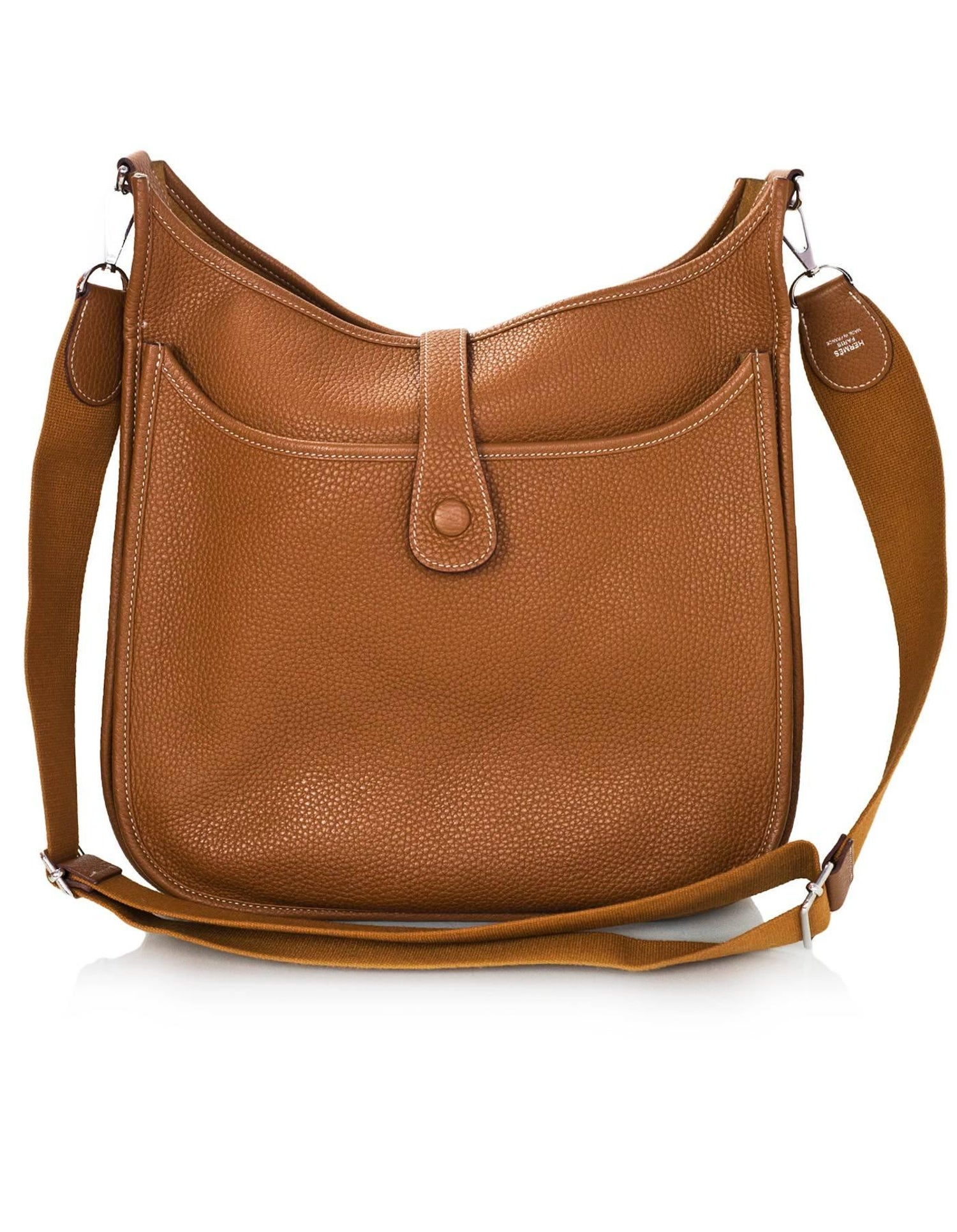 425ffa1a4c65 Hermes Tan Gold Clemence Leather Evelyne III GM Messenger Bag For Sale at  1stdibs