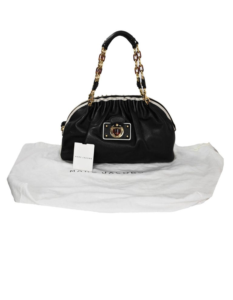 47e9a253e8 Marc Jacobs Black and White Leather Shoulder Bag For Sale at 1stdibs