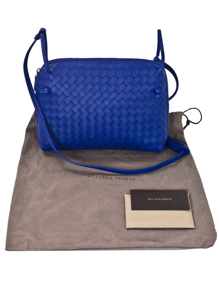 Bottega Veneta Cobalt Blue Intrecciato Leather Pillow Crossbody Bag With Db For 7