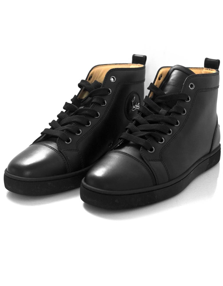 bcc508545015 Christian Louboutin Black Leather Louis Sneakers Sz 40 Made In  EU Color   Black Materials