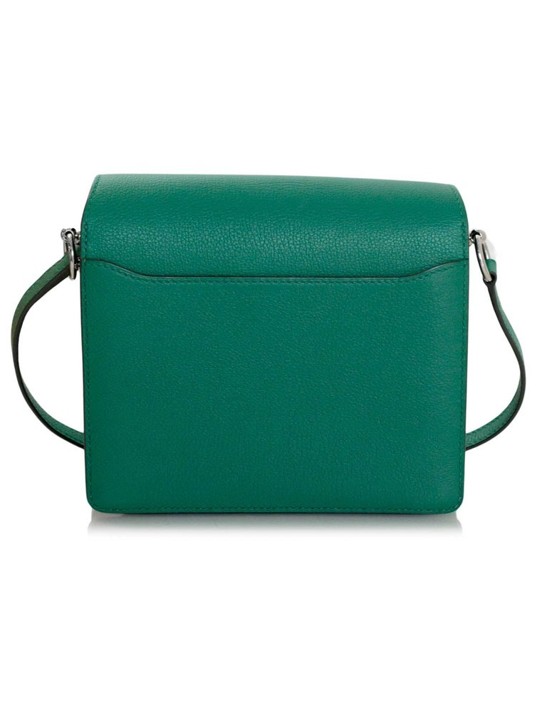 2d0130e84a Hermes Green Evercolor Mini Sac Roulis Crossbody Bag, 2017 In Excellent  Condition For Sale In