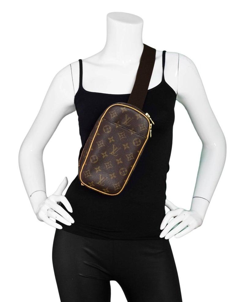 54fabfbcbd60 Louis Vuitton Monogram Canvas Pochette Gange Body Bag Belt Bag Fanny ...