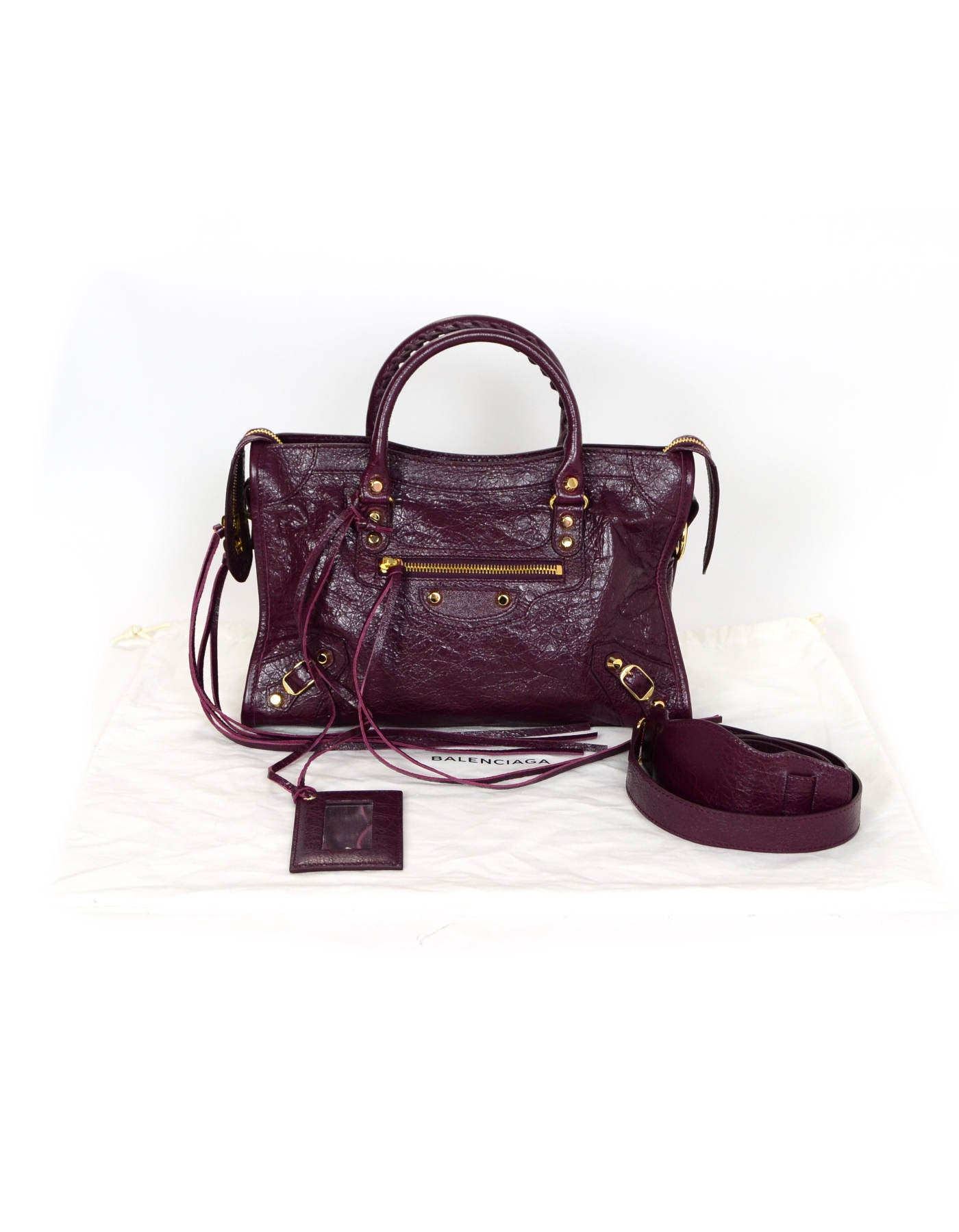 18cf20f0a943 Balenciaga  16 Burgundy Distressed Leather Classic City S Small Crossbody  Bag For Sale at 1stdibs