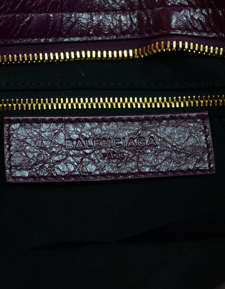 2978e00229e Balenciaga '16 Burgundy Distressed Leather Classic City S Small Crossbody  Bag For Sale 2