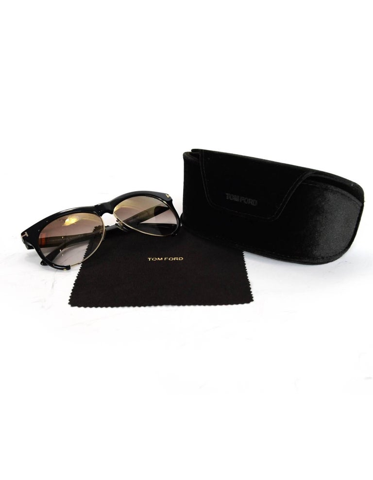 f27a680b9d Tom Ford Black Leona Sunglasses with Case For Sale at 1stdibs