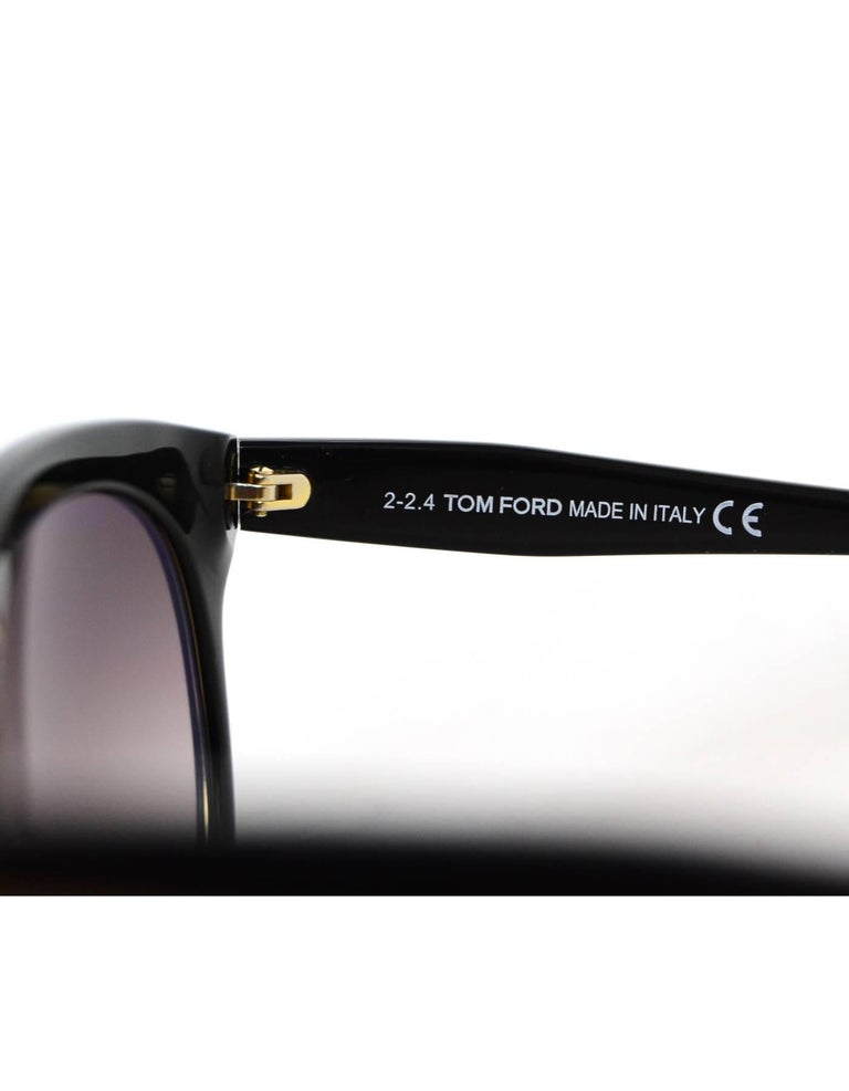 82b8137ed61 Tom Ford Black Leona Sunglasses with Case For Sale at 1stdibs