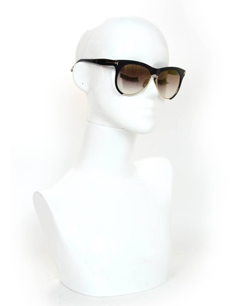 09315c9346b Tom Ford Black Leona Sunglasses Made In  Italy Color  Black Materials   Resin