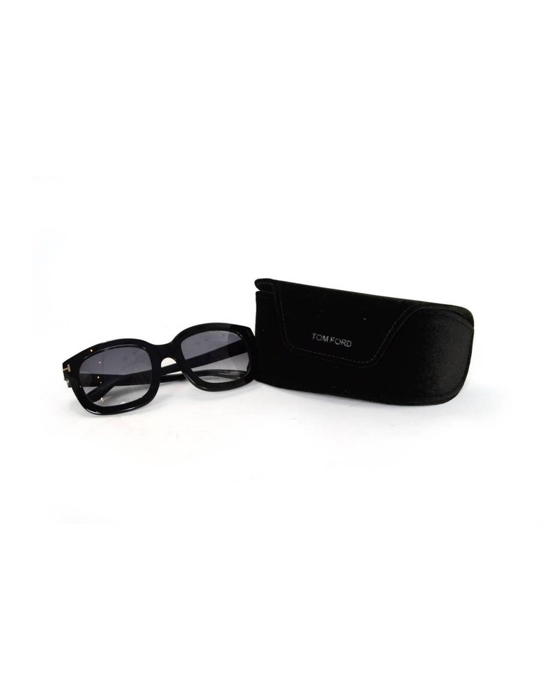 Tom Ford Black Christophe Sunglasses with Case For Sale 4
