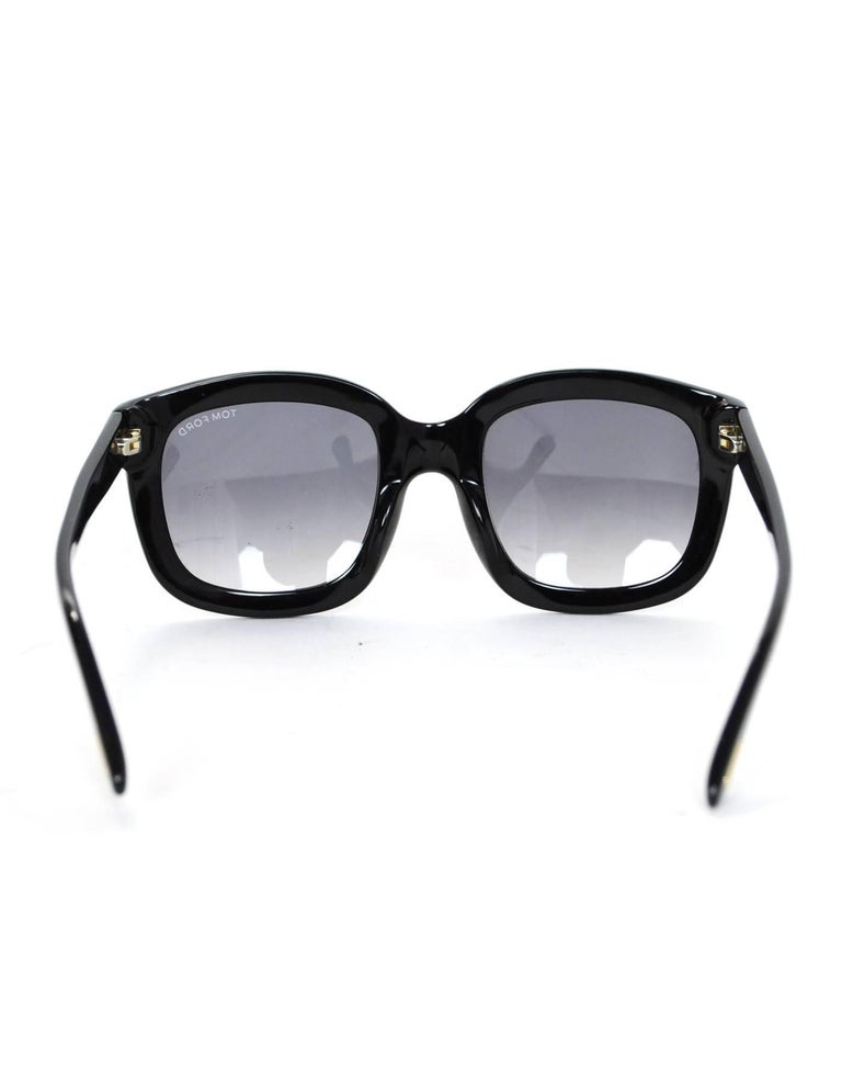 Tom Ford Black Christophe Sunglasses with Case For Sale 1