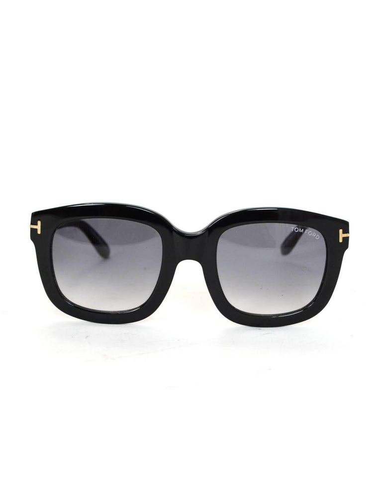 Tom Ford Black Christophe Sunglasses with Case In Excellent Condition For Sale In New York, NY