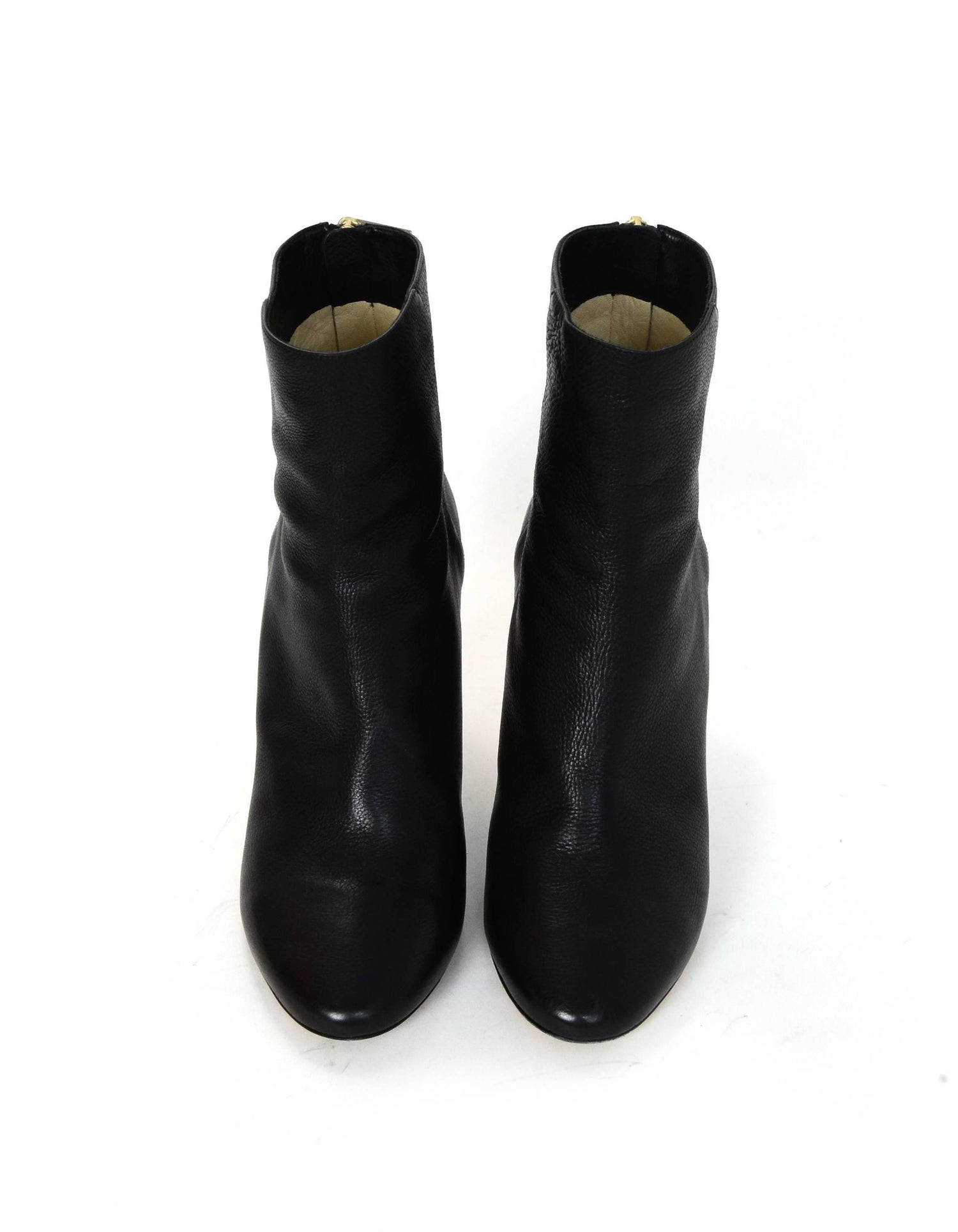 99a4e9a14dd0 Jimmy Choo Black Leather Duke 85 Ankle Boots Sz 38 For Sale at 1stdibs