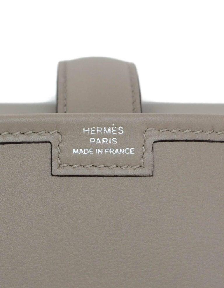 Hermes 2017 Grey Swift Leather Jige Elan 29 H Clutch Bag  For Sale 2