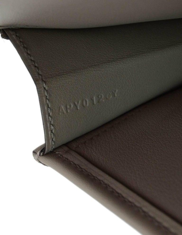 Hermes 2017 Grey Swift Leather Jige Elan 29 H Clutch Bag  For Sale 3