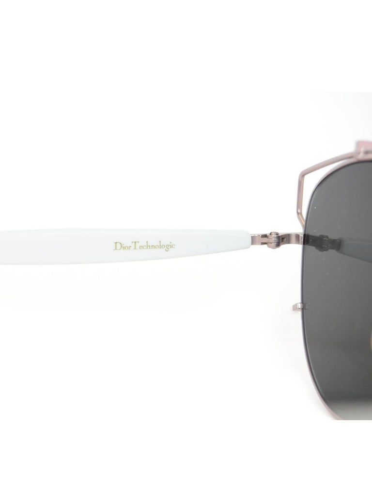 17cd6a64a6f Christian Dior White   Pink Mirrored Technologic Sunglasses with Case For  Sale 1