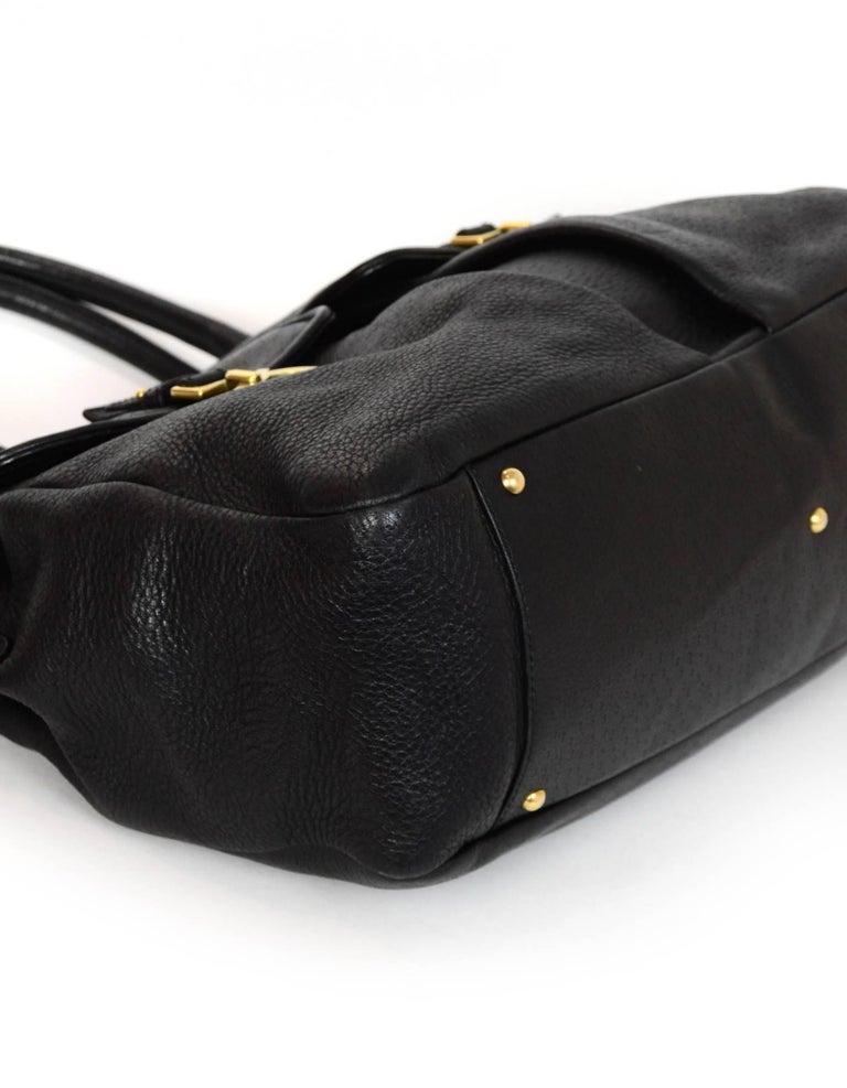 ca68b6dcab96 Women s Salvatore Ferragamo Black Leather Double Pocket Satchel Bag For Sale