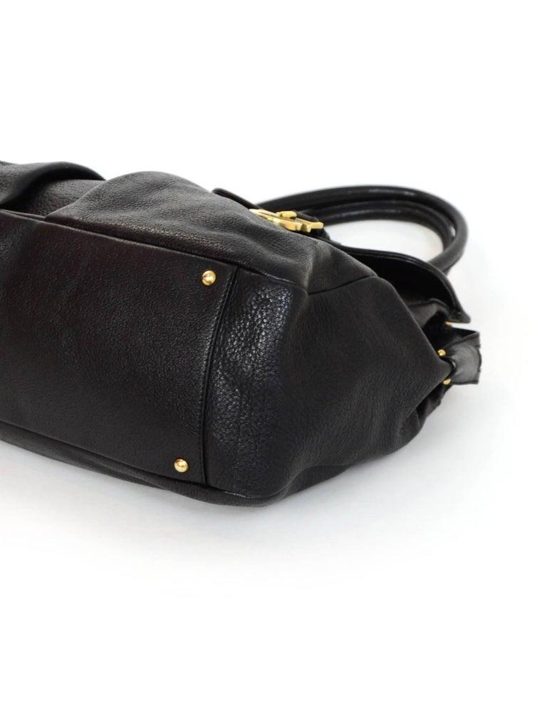 b39fe3e23881 Salvatore Ferragamo Black Leather Double Pocket Satchel Bag For Sale ...