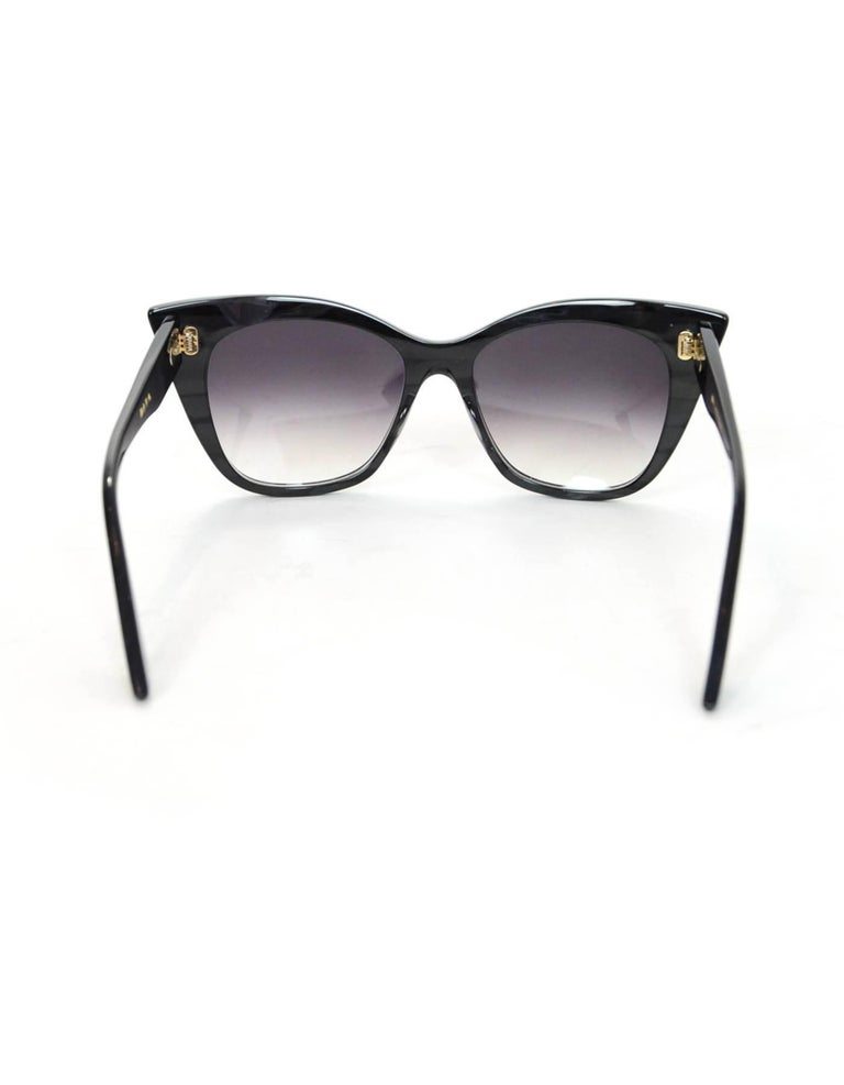 6edc17b615b DITA Black Magnifique Cat Eye Sunglasses with Box and Case For Sale ...