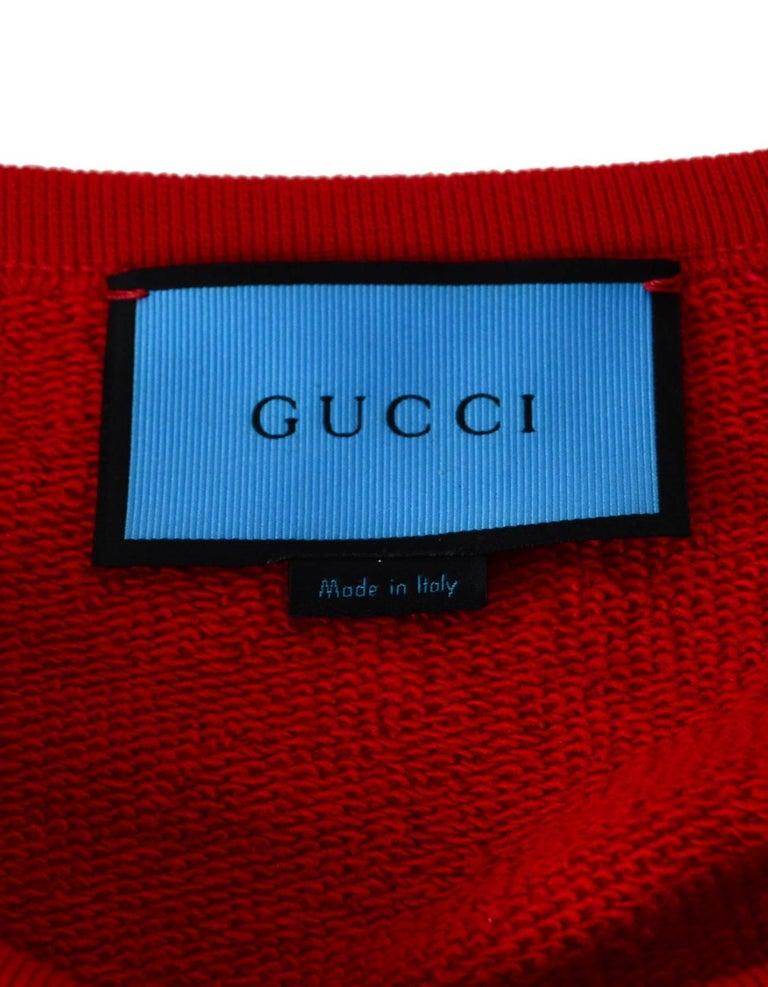 Gucci Men's Red GucciGhost Sweatshirt Sz L For Sale 1