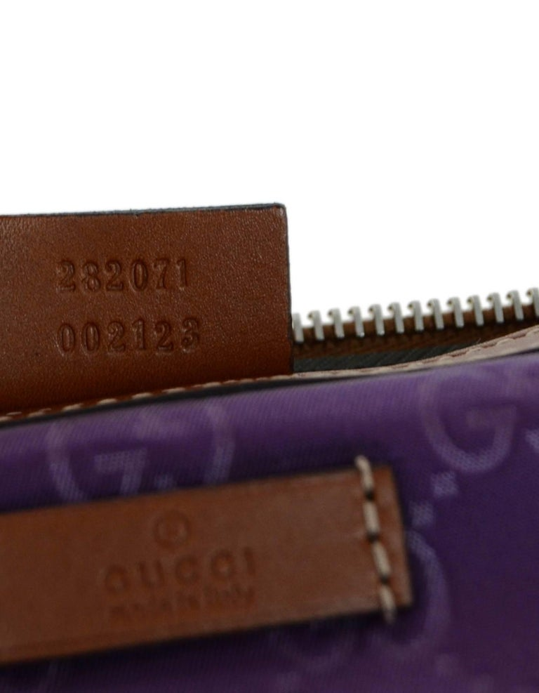 323e42fd5f5 Gucci Purple Canvas Monogram Cosmetic Case Clutch Bag w. Dust Bag For Sale 3