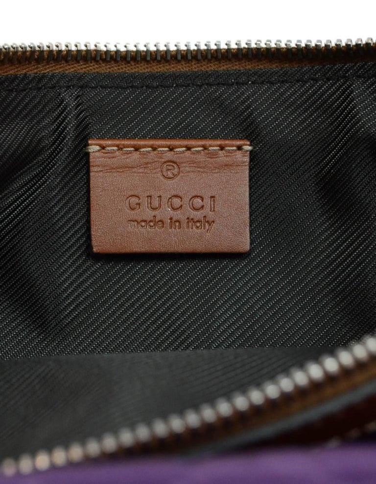 fa19feb31bb Gucci Purple Canvas Monogram Cosmetic Case Clutch Bag w. Dust Bag For Sale 2