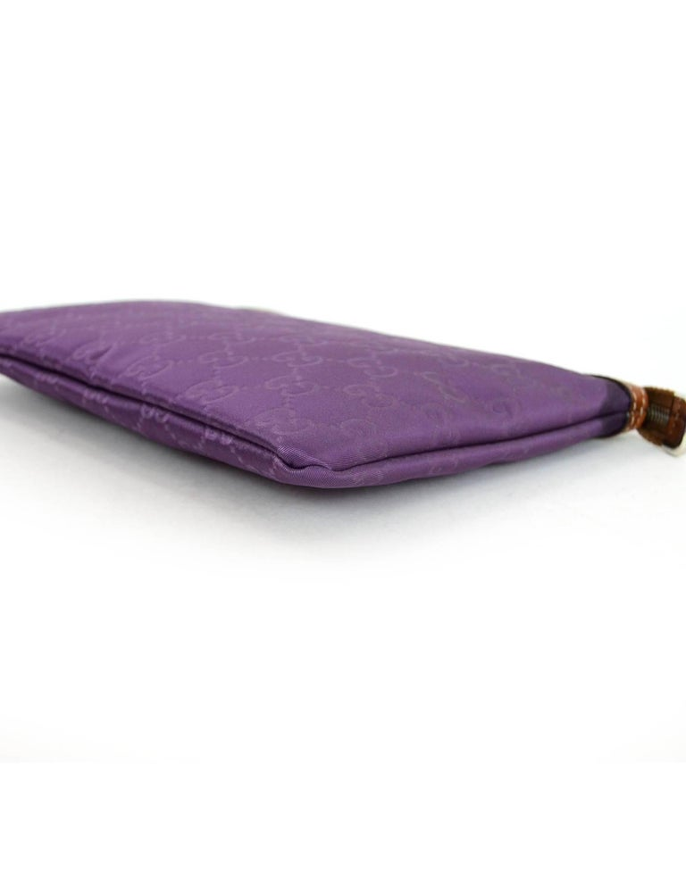 6cea790f657 Dust Bag In Excellent Condition. Women s or Men s Gucci Purple Canvas  Monogram Cosmetic Case Clutch Bag w. Dust Bag