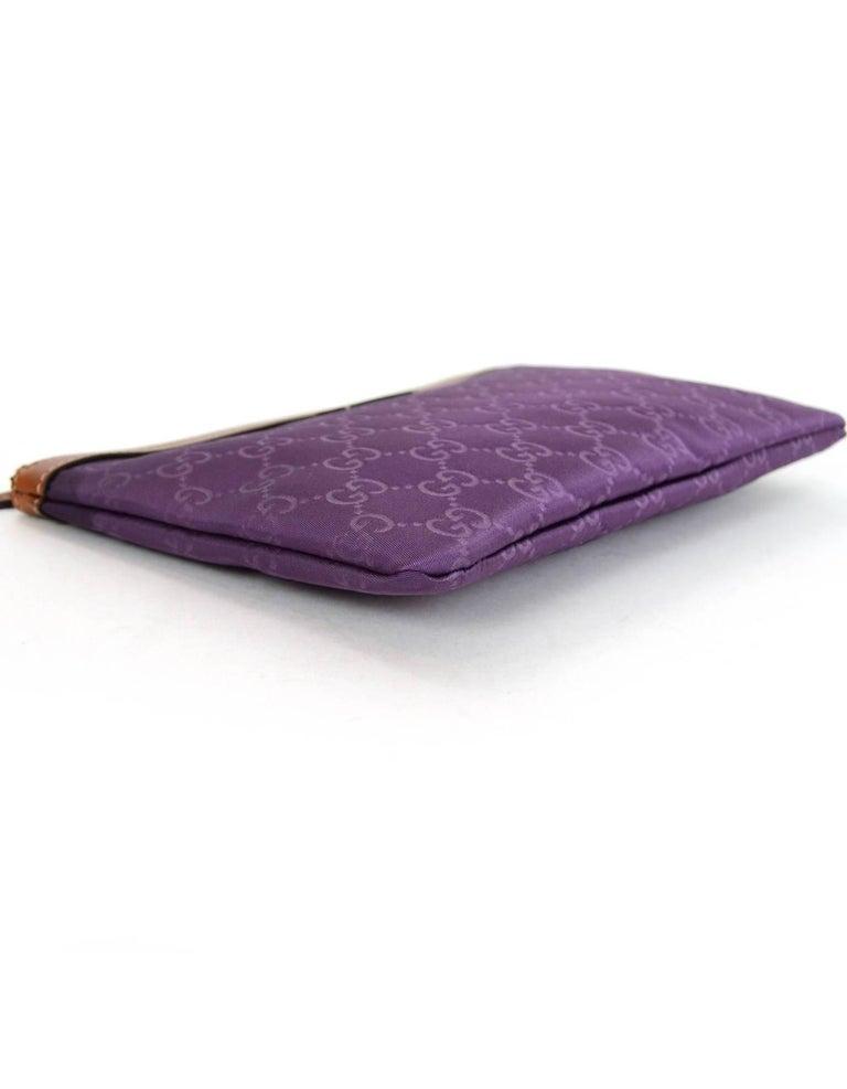 b2de7c8e8bb Gucci Purple Canvas Monogram Cosmetic Case Clutch Bag w. Dust Bag In Excellent  Condition