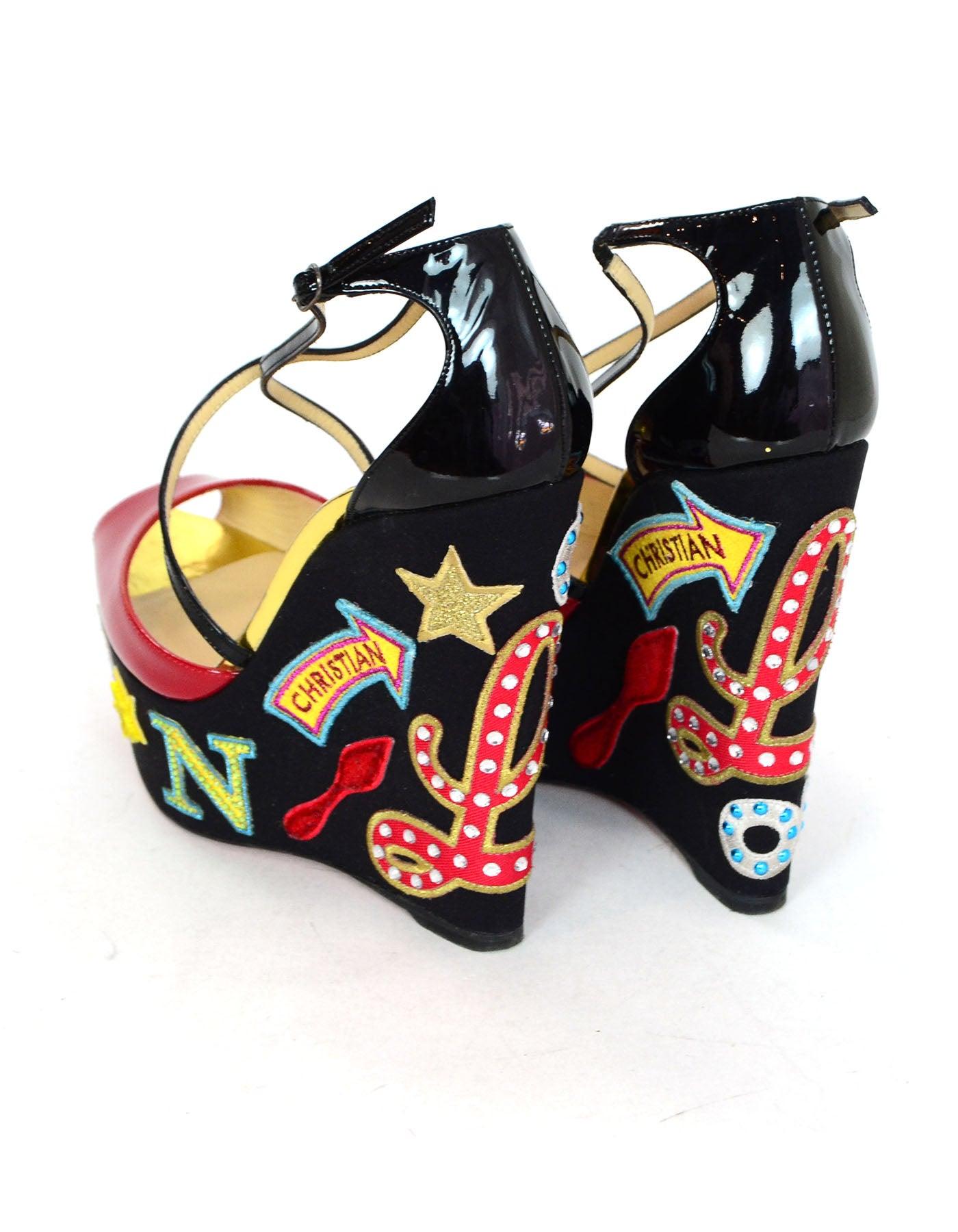 4b764ee278f greece christian louboutin loubi zeppa wedges heels 1416e c36b6