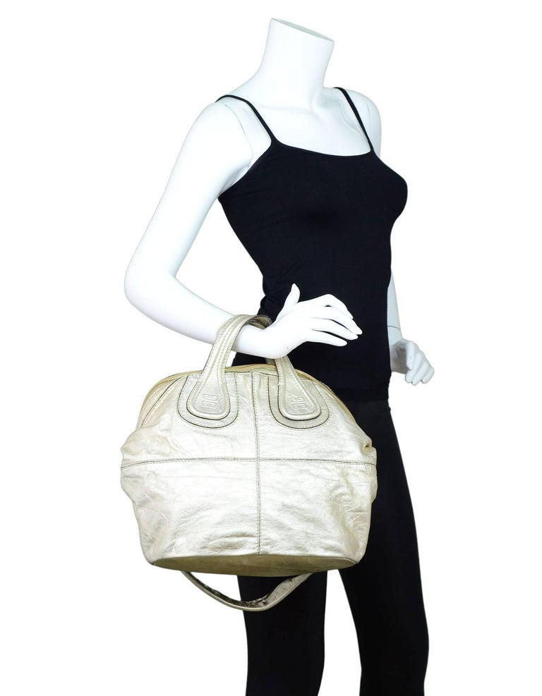 Givenchy Gold Leather Nightingale Satchel Made In  Italy Color  Gold Year  Of Production  1a9d7dd70f288