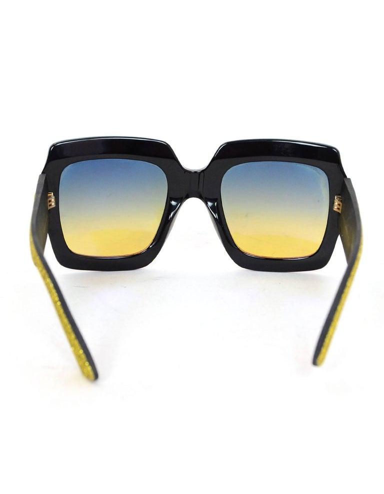 c2c67555eb0ed Women s Gucci  18 Rainbow Glitter Square Frame Sunglasses with Case For Sale