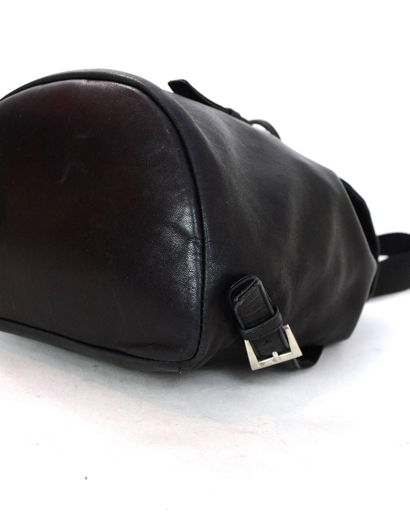 048e92b3755a09 coupon prada black leather backpack 874d2 6d39d