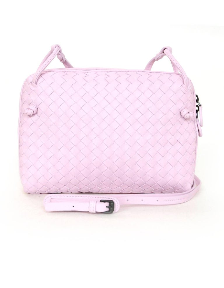 ... Gray Bottega Veneta Light Pink Intrecciato Nodini Crossbody Bag with  Dust Bag For Sale more photos  This authentic ... 0b6224ec256f5