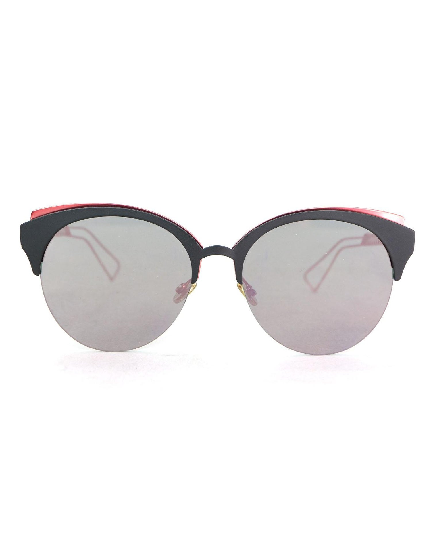 d886df7b907a Christian Dior Pink and Black Diorama Mirrored Sunglasses with Case For Sale  at 1stdibs