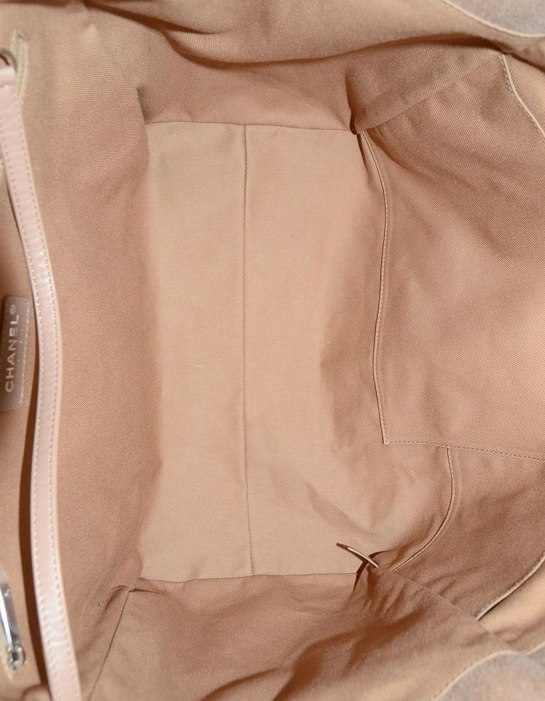 Chanel Tan Canvas and Sequin Large Deauville Tote Bag, 2017  For Sale 1