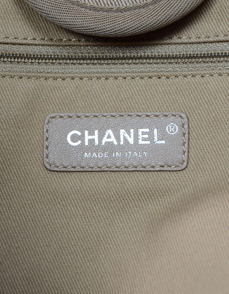Chanel Tan Canvas and Sequin Large Deauville Tote Bag, 2017  For Sale 2