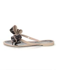 Valentino Nude & Black Lace Print Sandals Sz 36