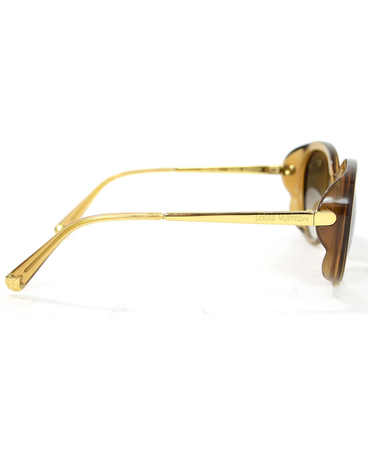 fcb89c198888 Louis Vuitton Honey Glitter Acetate Bluebell Sunglasses with Case For Sale  at 1stdibs