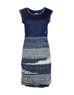 Chanel Navy & White Knit Dress Sz FR34