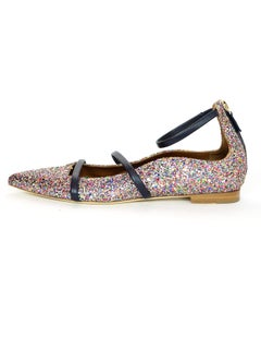 Malone Souliers Multi-Color Glitter Robyn Flats Sz 40 NEW with DB