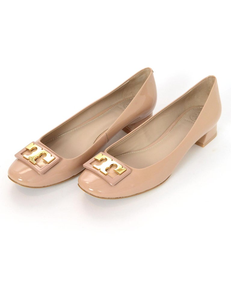 a6ecc7b92cd Tory Burch Nude Patent Gigi Shoes Sz 7M NIB Color  Nude Materials  Patent  leather