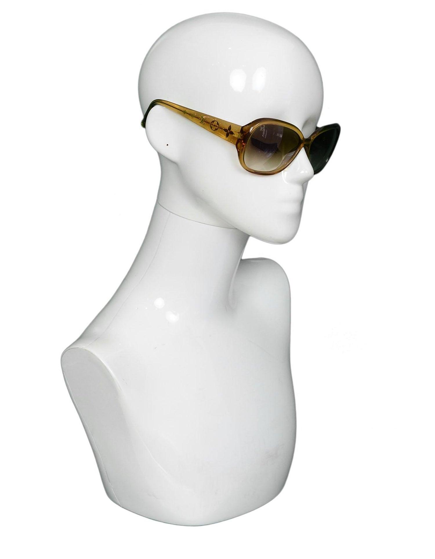 15b273e1c0e01 Louis Vuitton Z0460W Honey Glitter Acetate Obsession GM Sunglasses For Sale  at 1stdibs