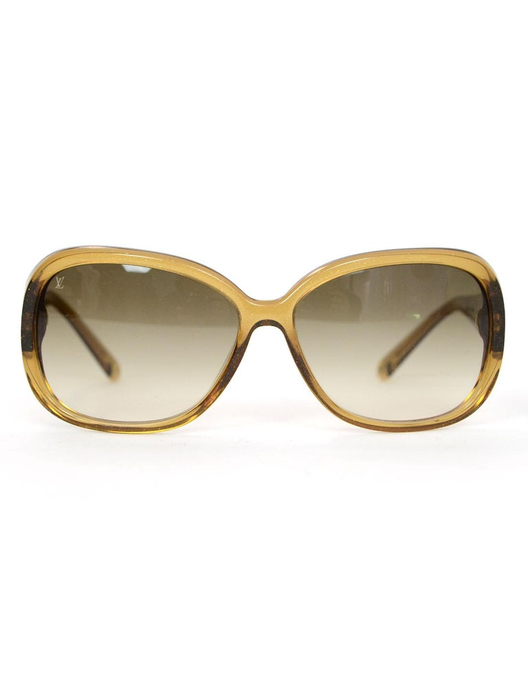 a819620a37efb Brown Louis Vuitton Z0460W Honey Glitter Acetate Obsession GM Sunglasses  For Sale