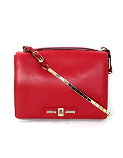 Valentino Red Leather Top Handle Crossbody Bag with Dust Bag