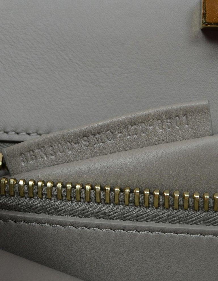 Fendi Black and Beige Calf Leather Peekaboo Essential Satchel Bag   For Sale 4
